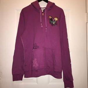 Disney Parks Disneyworld pink purple hoodie XL
